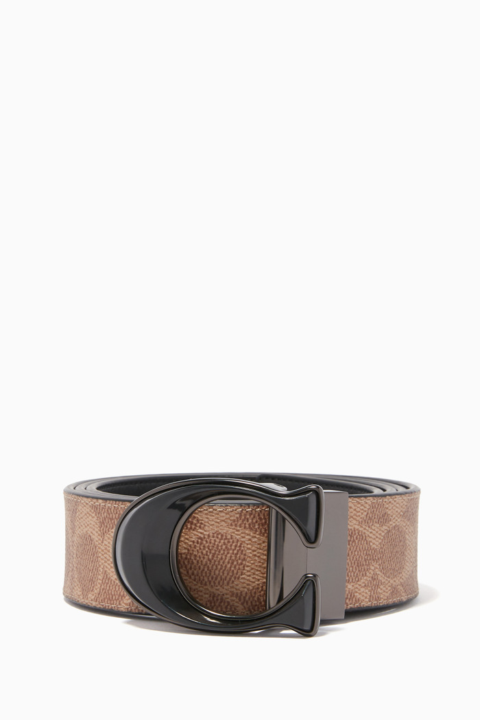 Reversible Signature Buckle Belt