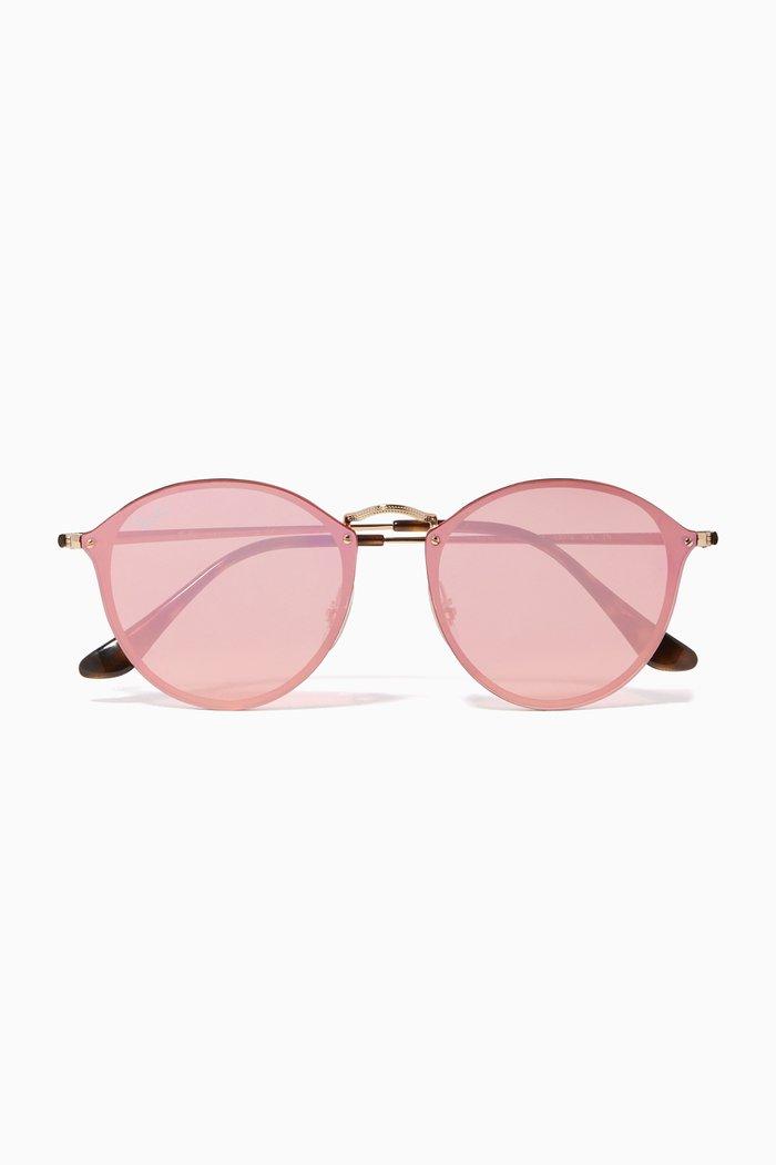 Blaze Mirror Round Sunglasses