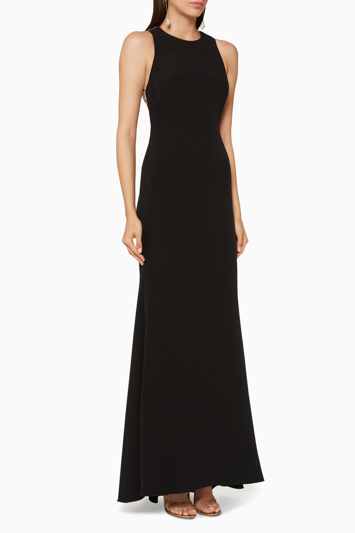 Sequin Embellished Halter Gown