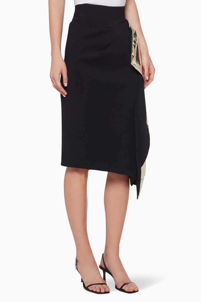 Alkali Metallic Detail Skirt