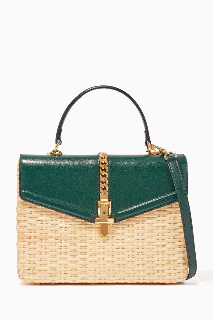Sylvie Wicker Top Handle Bag