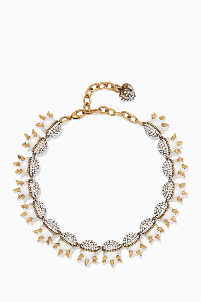 Pearl & Studs Necklace