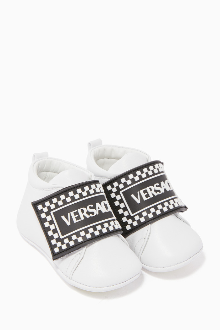 Checkerboard Logo Sneakers