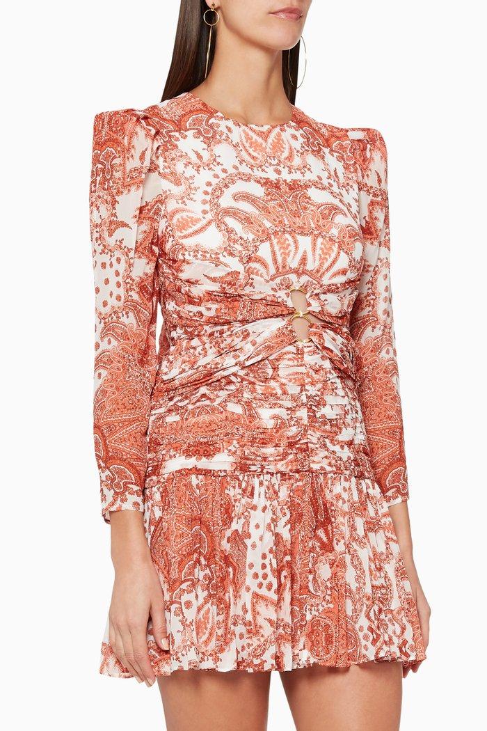 Siglo Silk Scarf Long Sleeved Dress