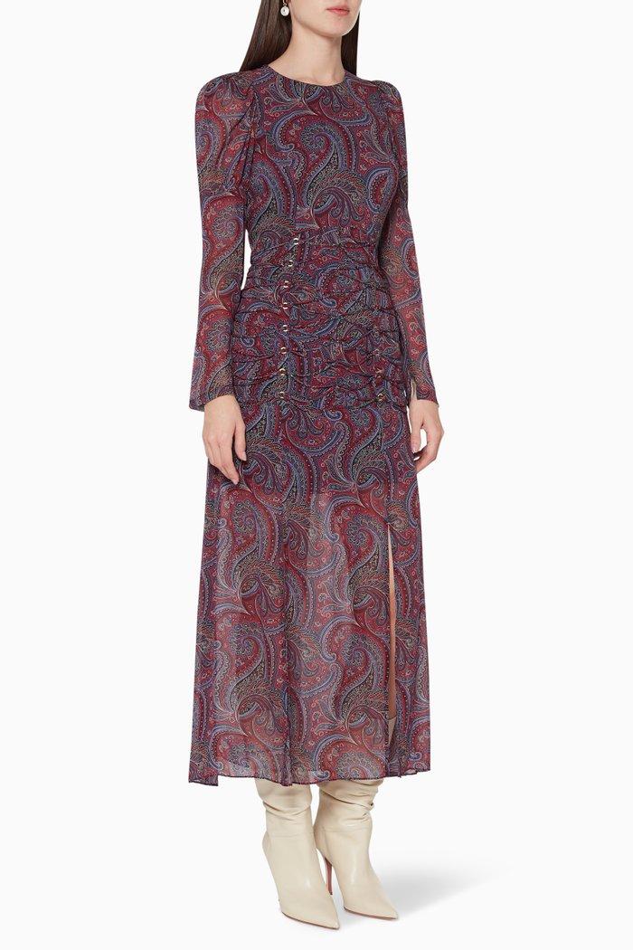 Aphrodite Embroidered Linen Dress