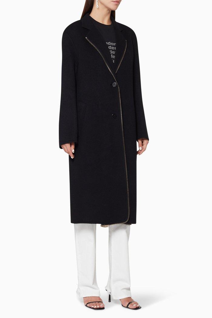Splittable Zip Wool Coat