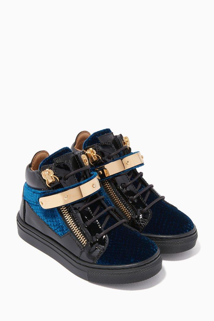 Kris Velvet High-Top Sneakers