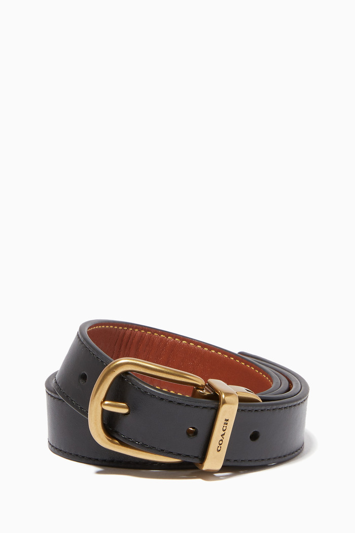 Harness Buckle Reversible Leather Belt