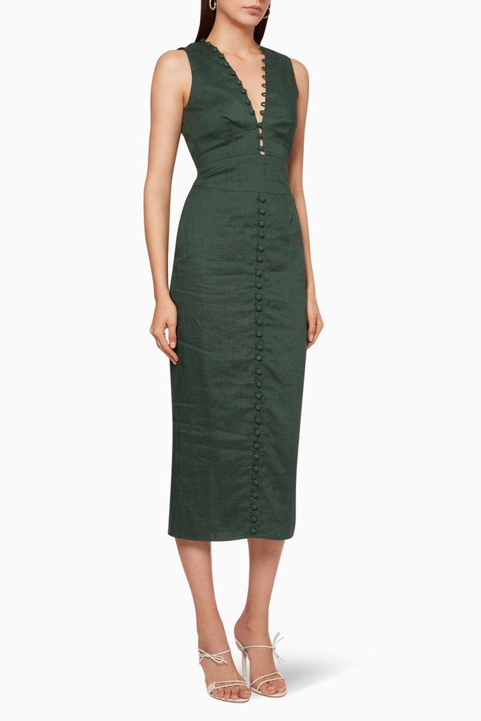 Olivia Ramie Midi Dress