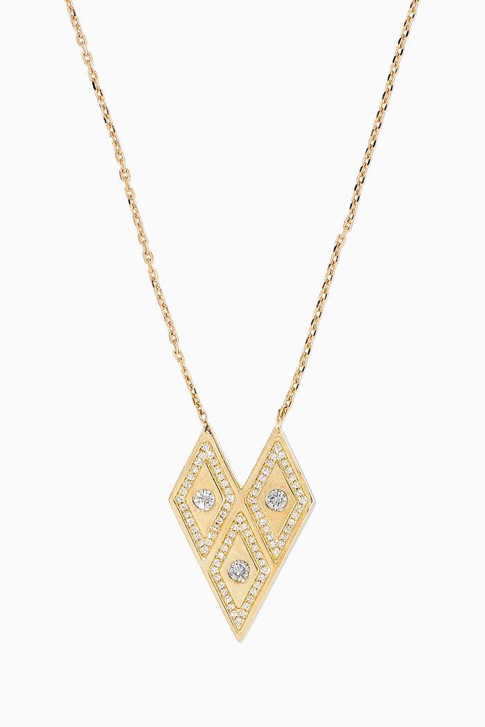 Heliopolis Rhombus Diamond Necklace