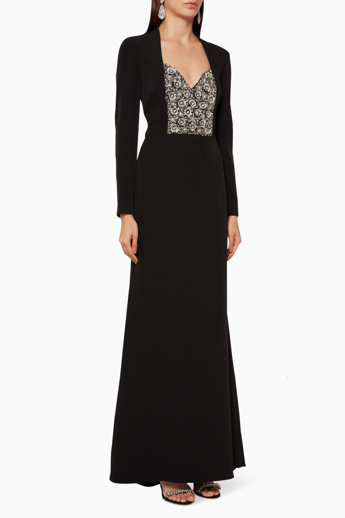 Long-Sleeved Evening Gown