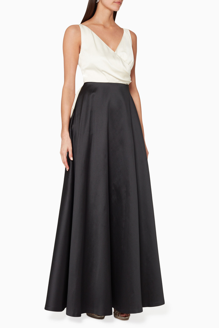 Cleo Colour-block Sleeveless Gown