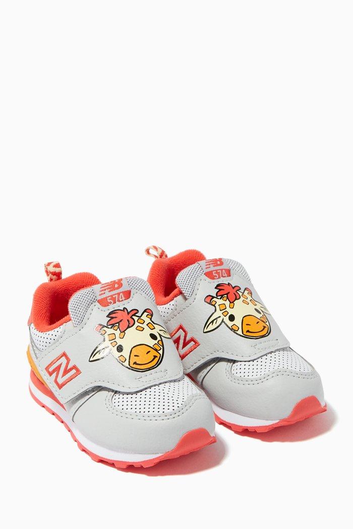 574 Giraffe Velcro Mesh Sneakers