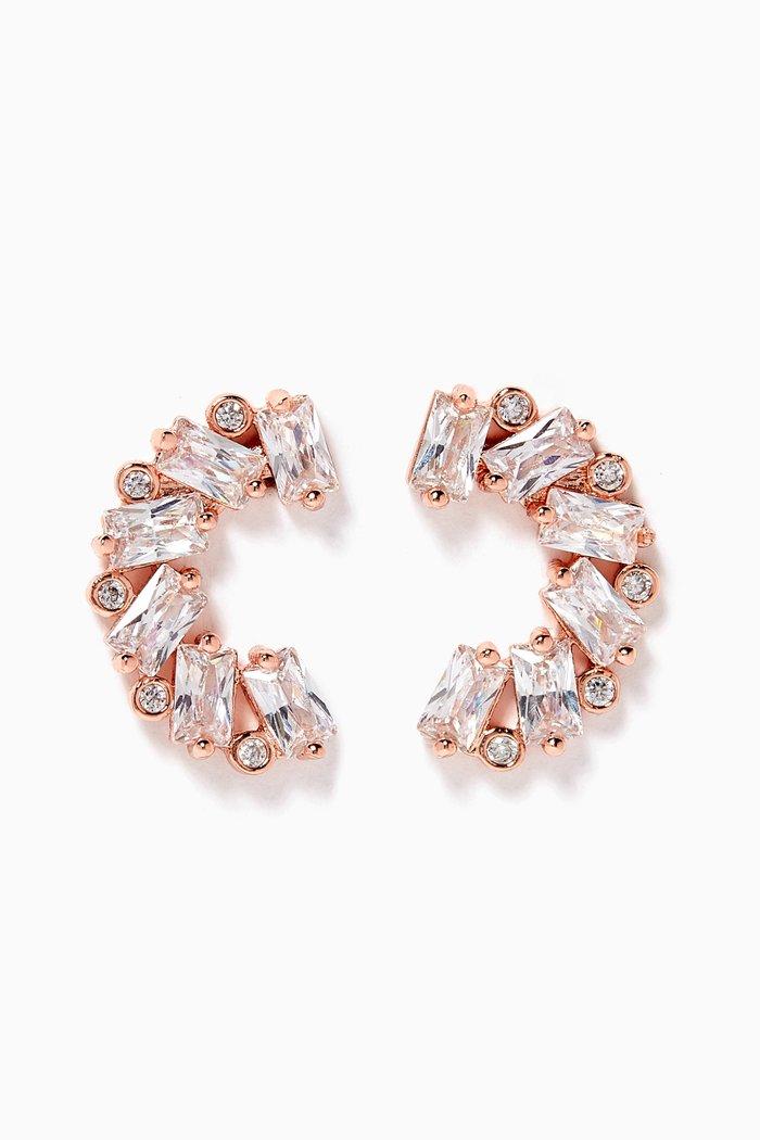 Baguette Cluster Crawler Earrings