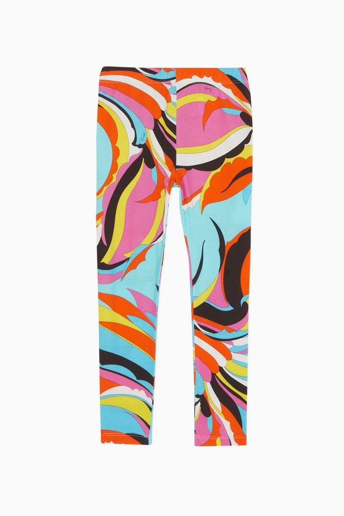 Floral Print Jersey Leggings