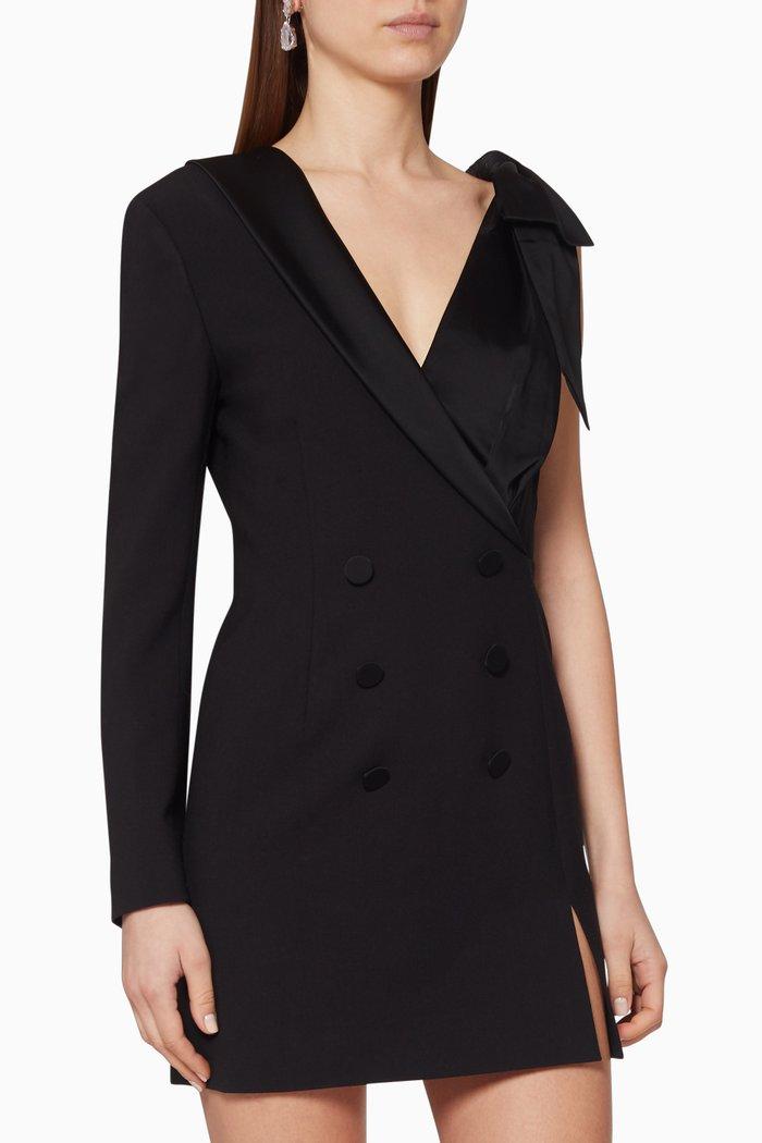Asymmetric Double-Breasted Blazer Dress