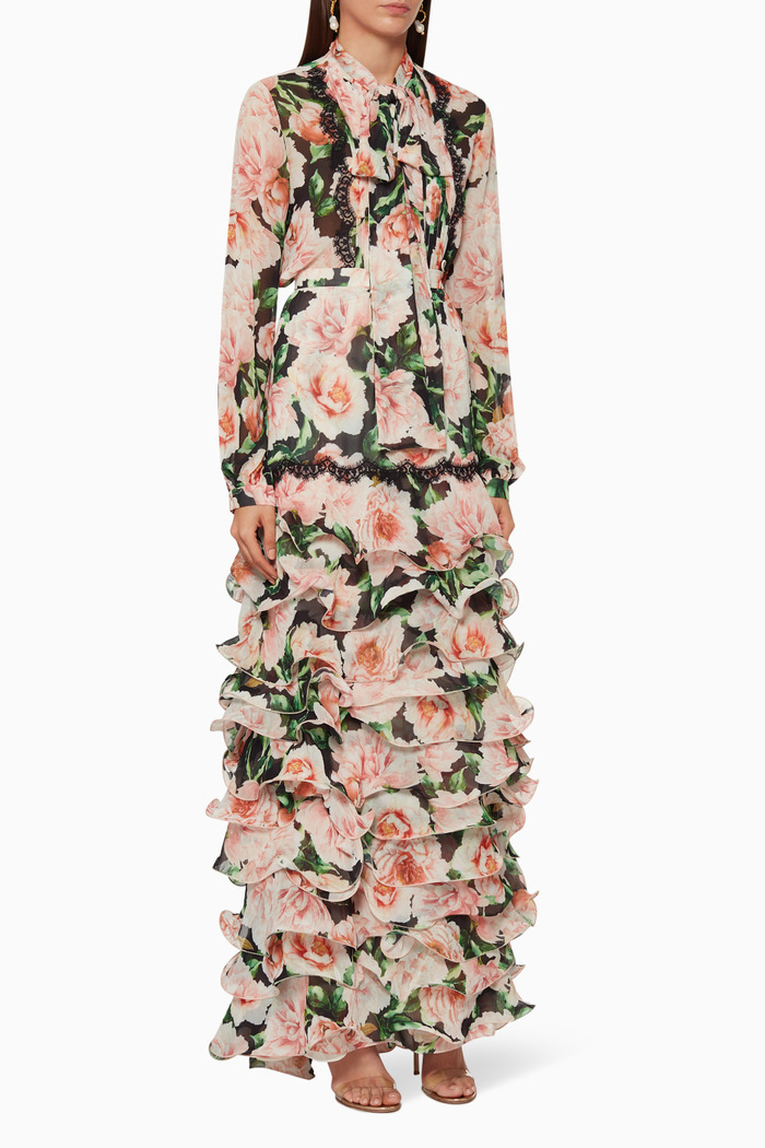 Printed Shirt & Ruffled Skirt