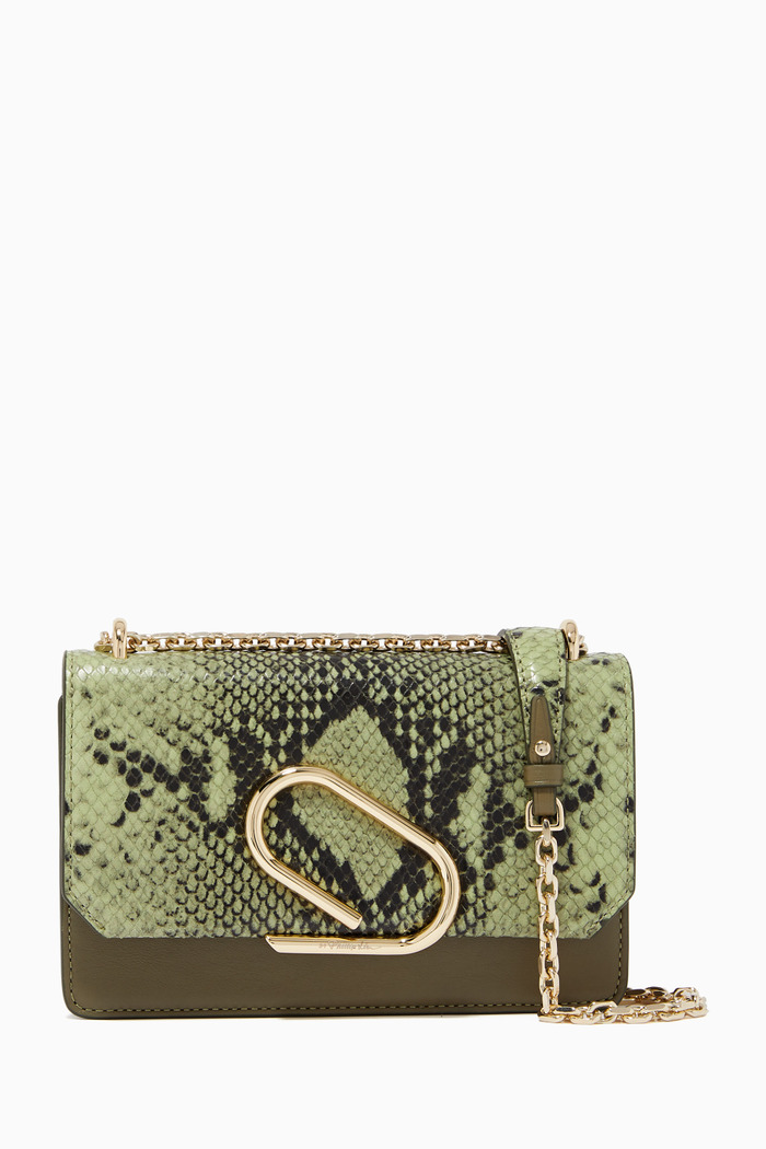 Alix Leather Chain Clutch