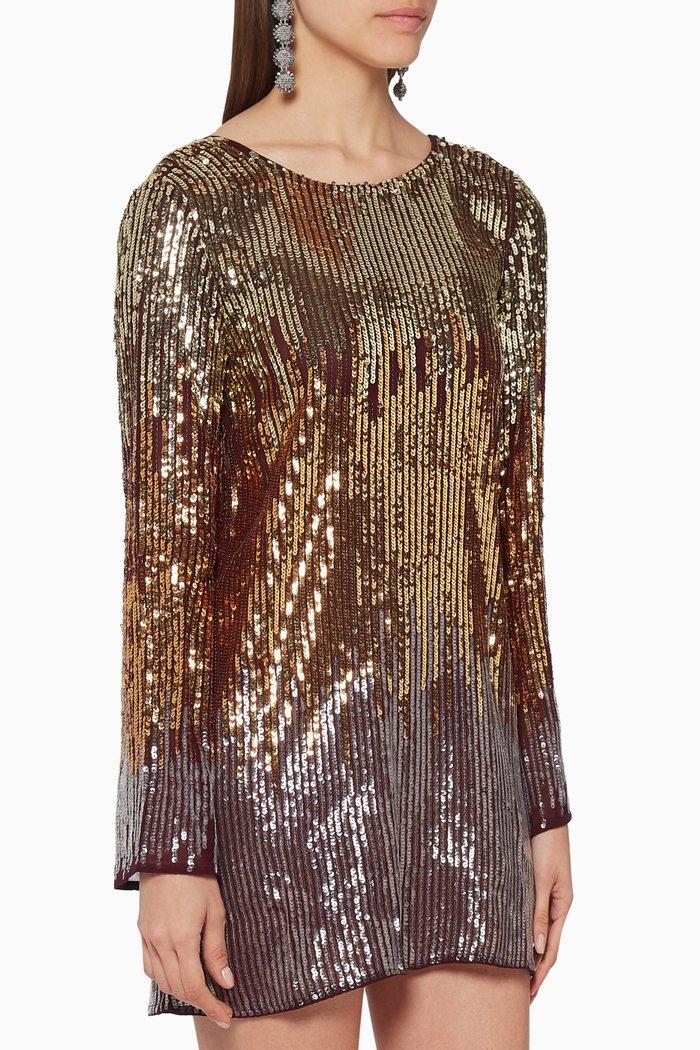 Aria Sequined Mini Dress