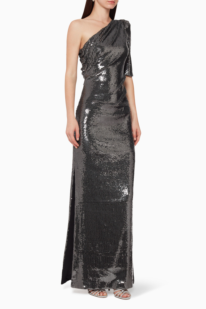 Val Sequined Crepe Gown
