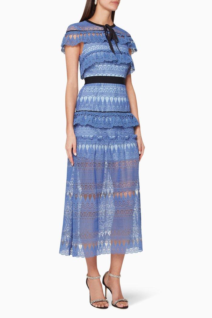 Daphne Teardrop Guipure Maxi Dress