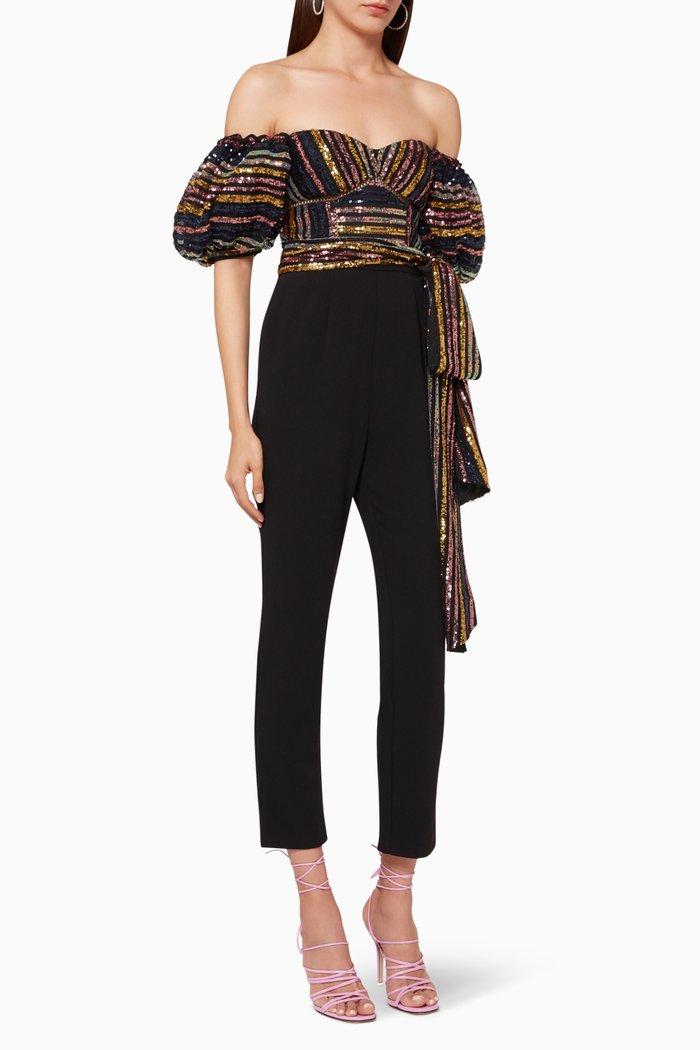 Sequin Stripe Jumpsuit