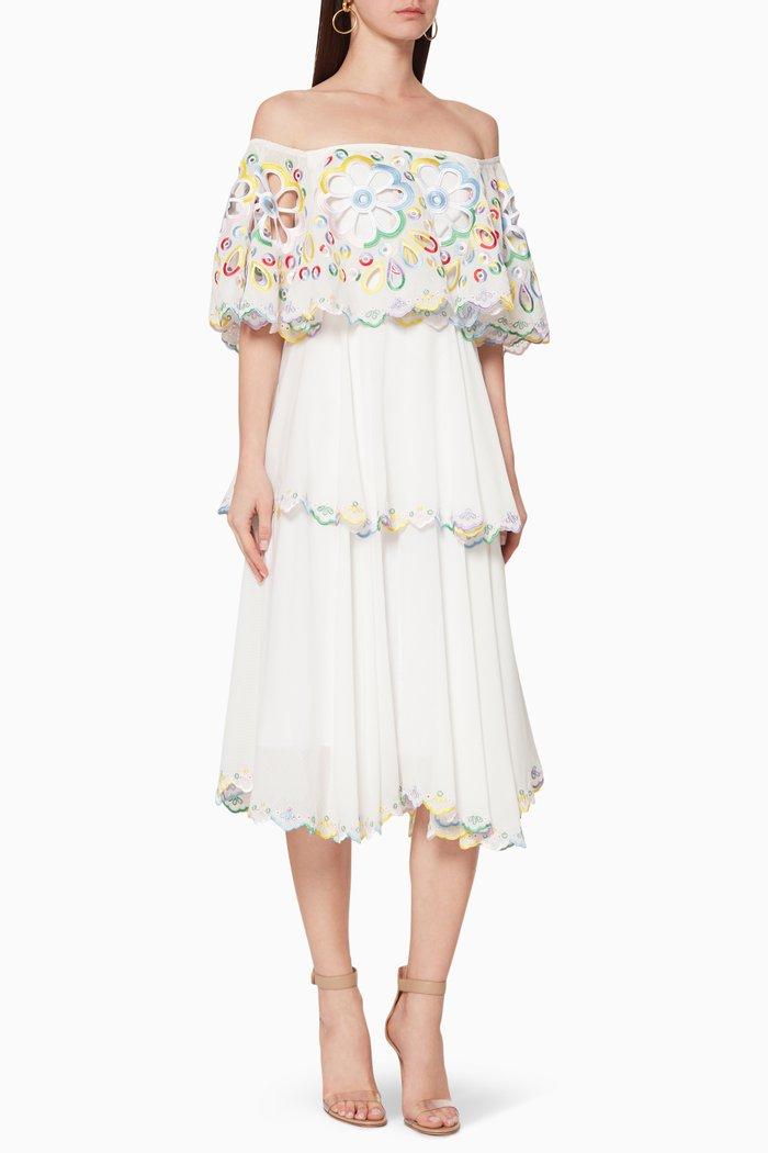 Mona Embroidered Midi Dress