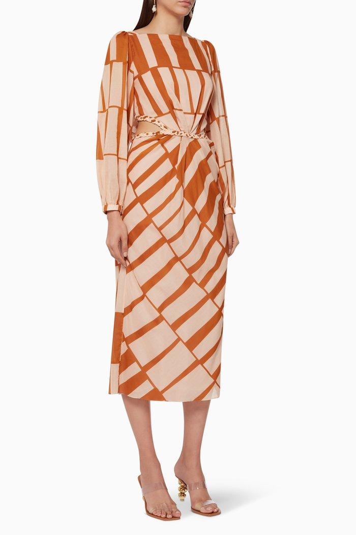 Illusion Of Time Midi Dress