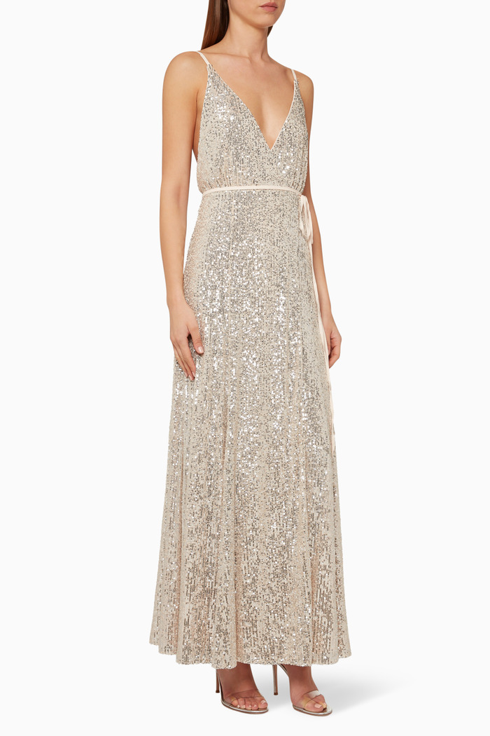 The Kirilly Sequinned Wrap Dress