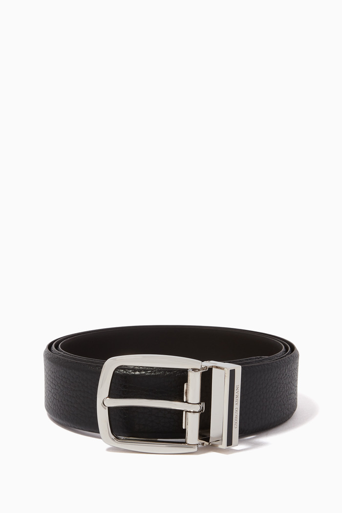 Reversible Textured & Smooth Leather Belt