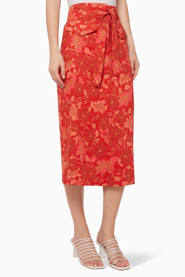 Hibiscus Midi Skirt
