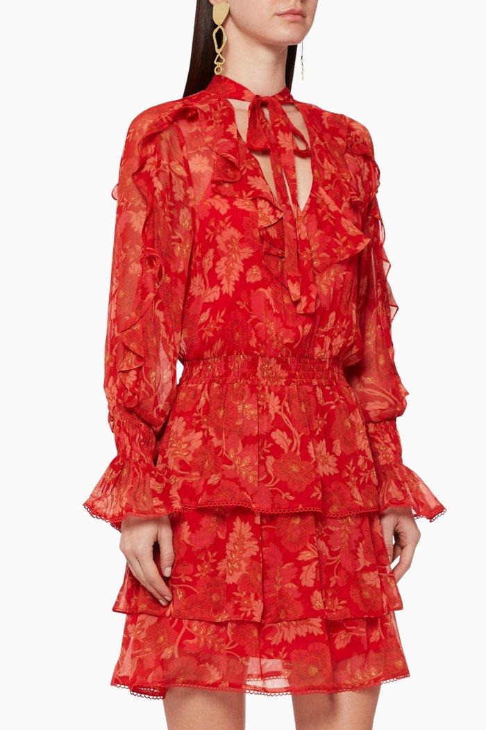 Hibiscus Ruffled Dress