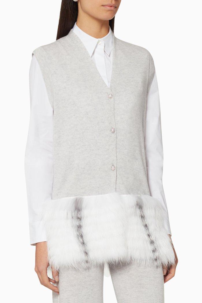 Fox-Fur Trim Waistcoat