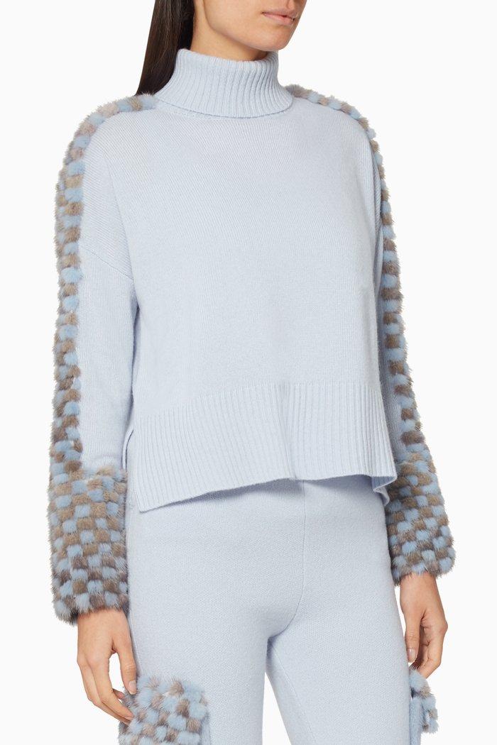 Mink-Fur Knit Sweater