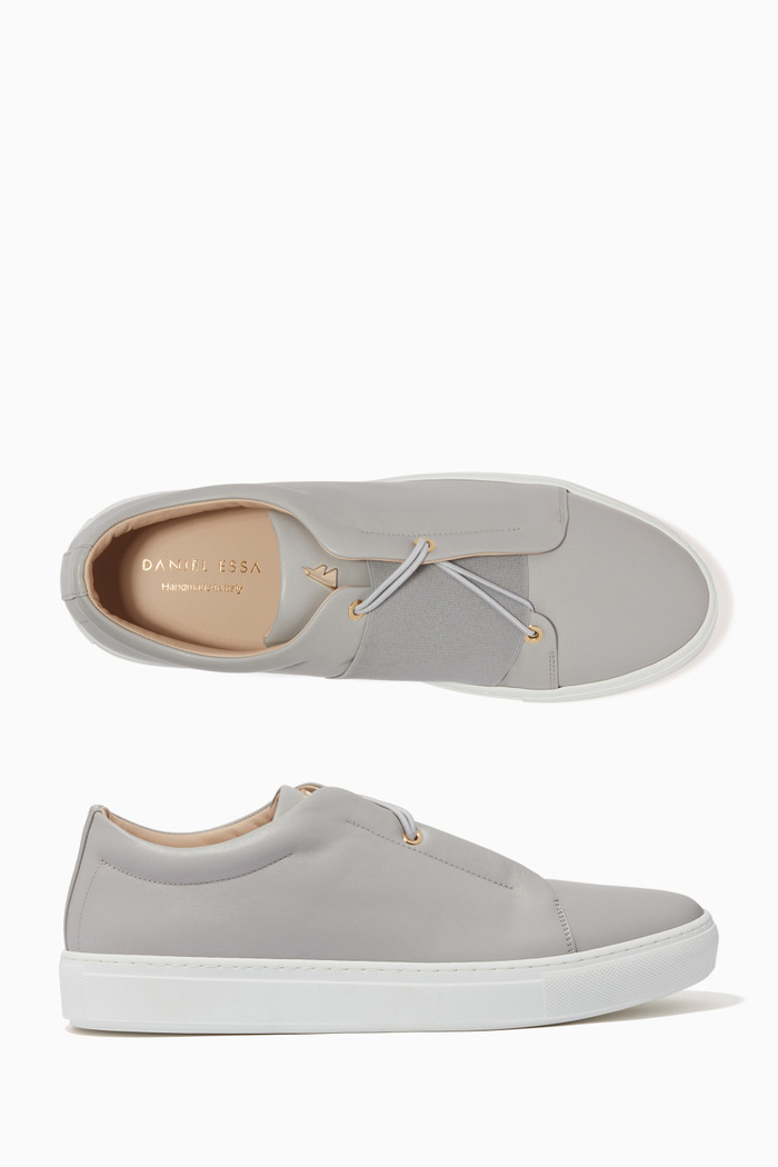 Classic Elasticated Leather Sneakers