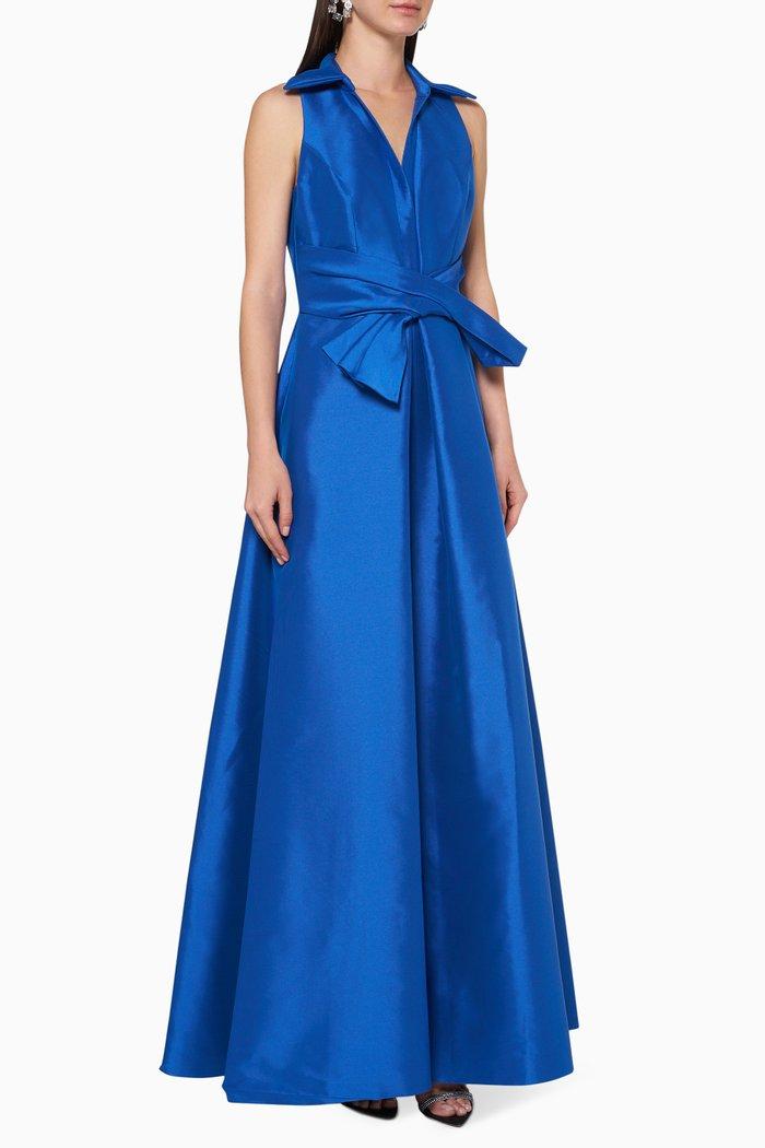 Metallic Silk-Blend Maxi Dress