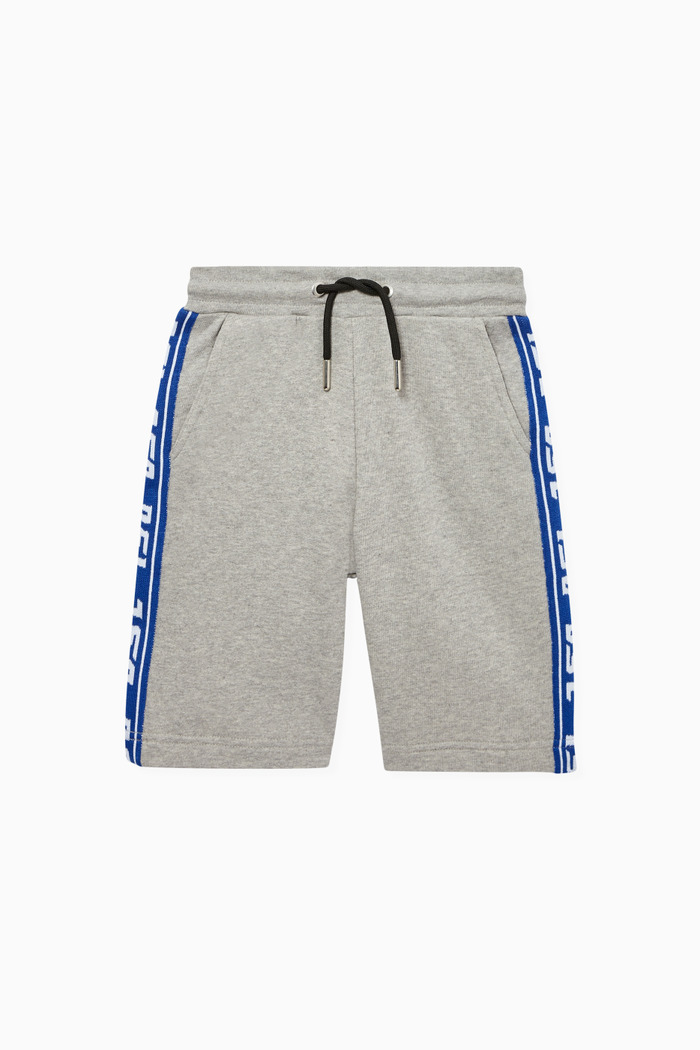 Logo Tape Cotton Shorts