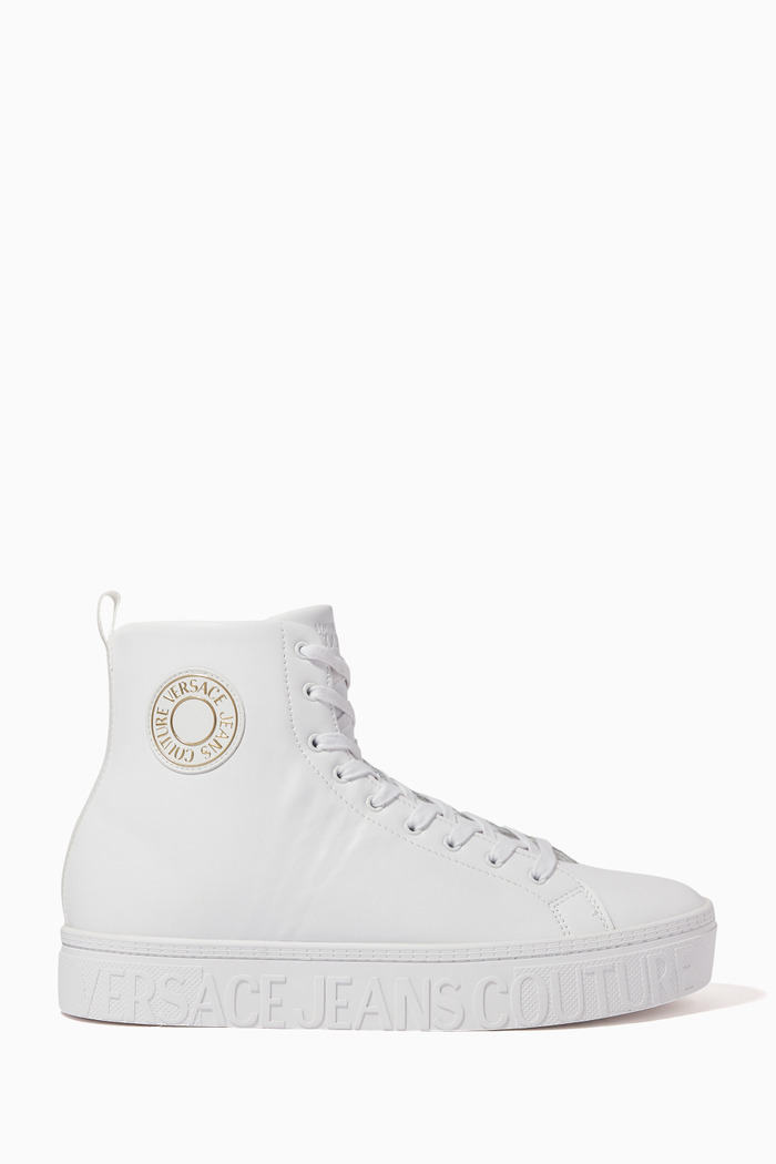 Brick High-Top Leather Sneakers