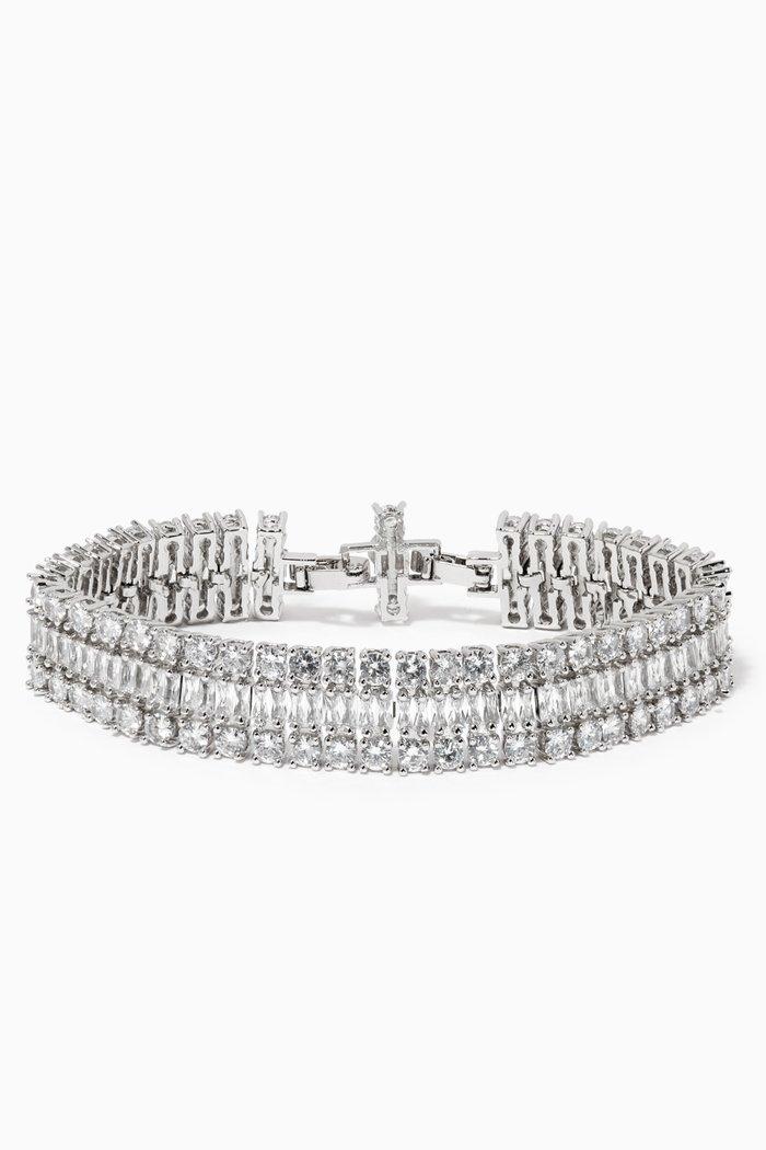 Cubic Zirconia Double Diamante Bracelet