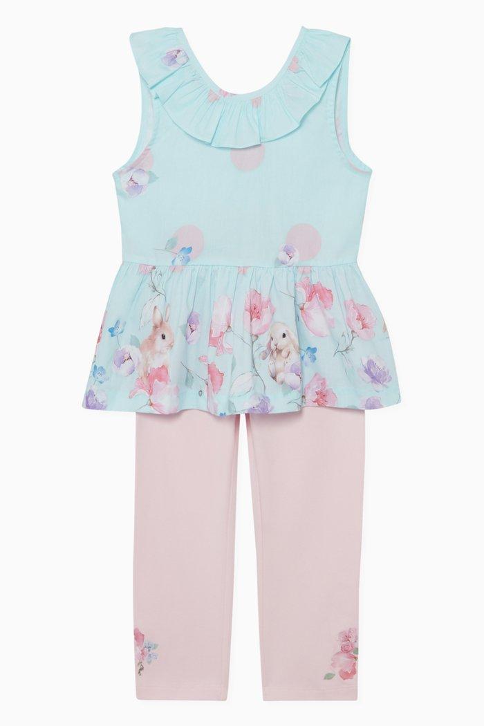 Bunny Rose Dress & Leggings Set