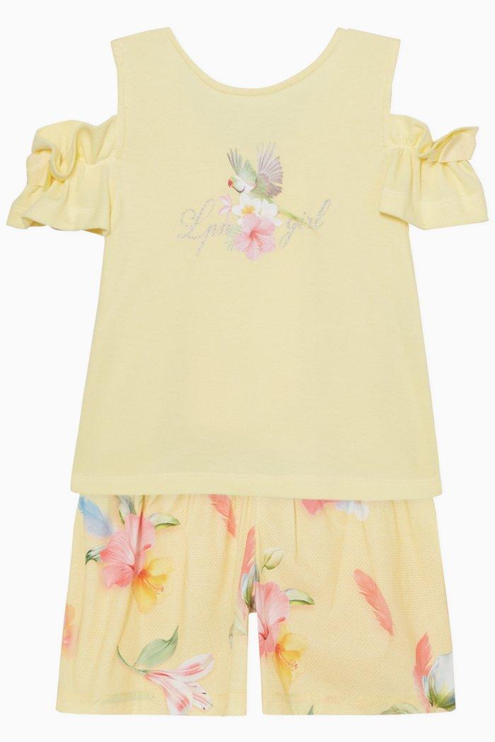 Floral Print Top & Shorts Set
