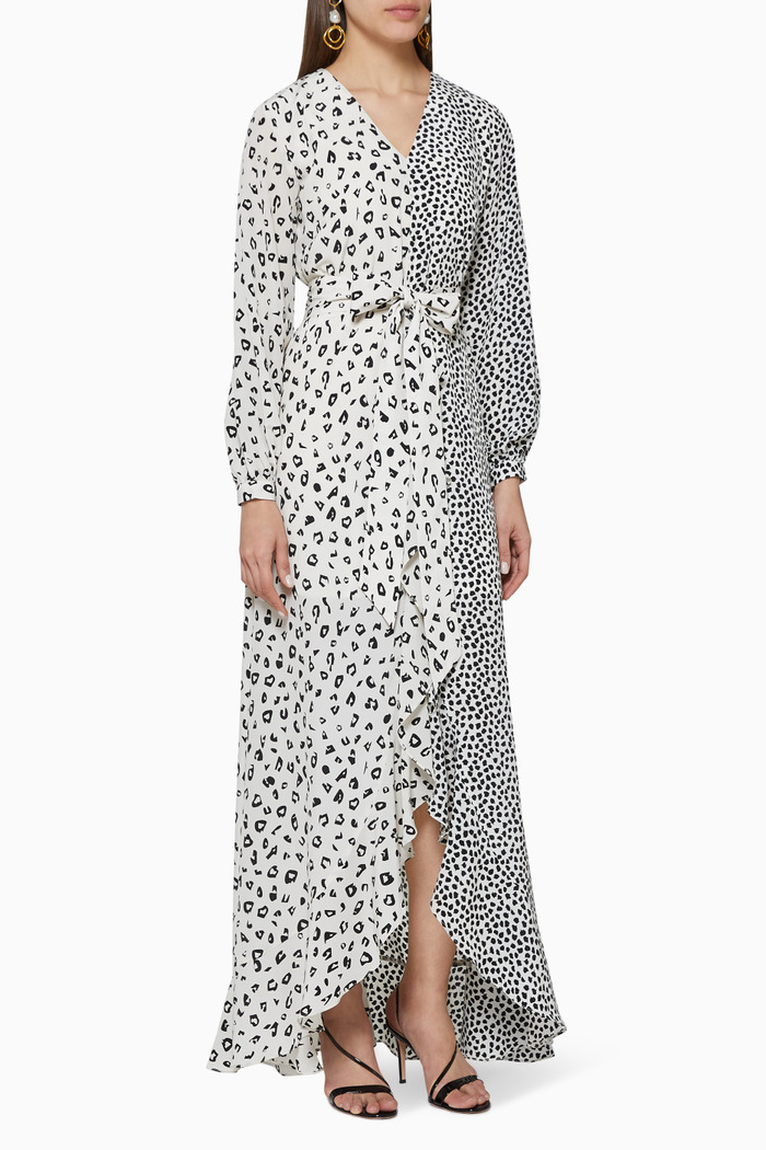 Moonlight Print Wrap Dress