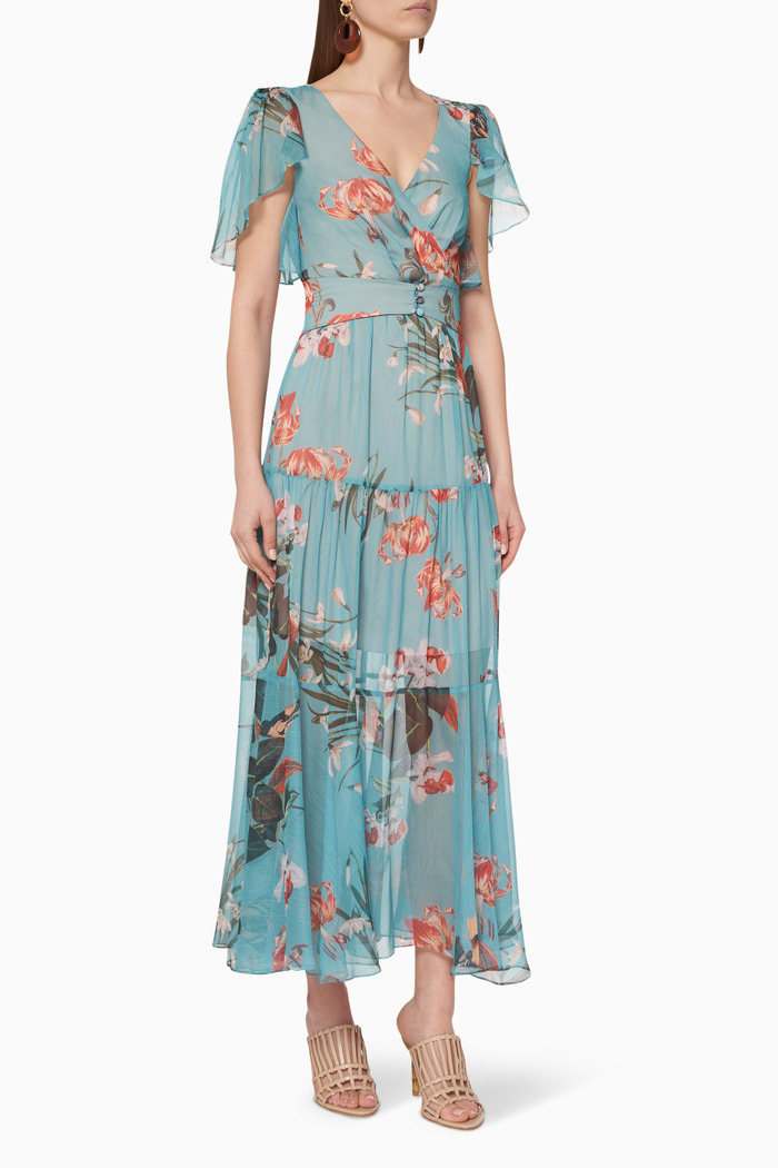 Carolina Printed Midi Dress