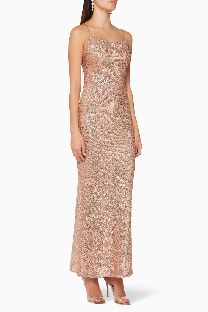 Soiree Sequined Maxi Dress