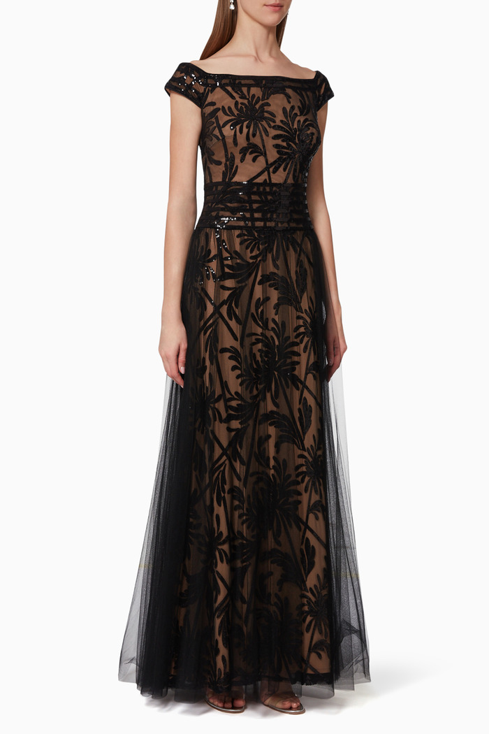 Saeko Embellished Tulle Gown
