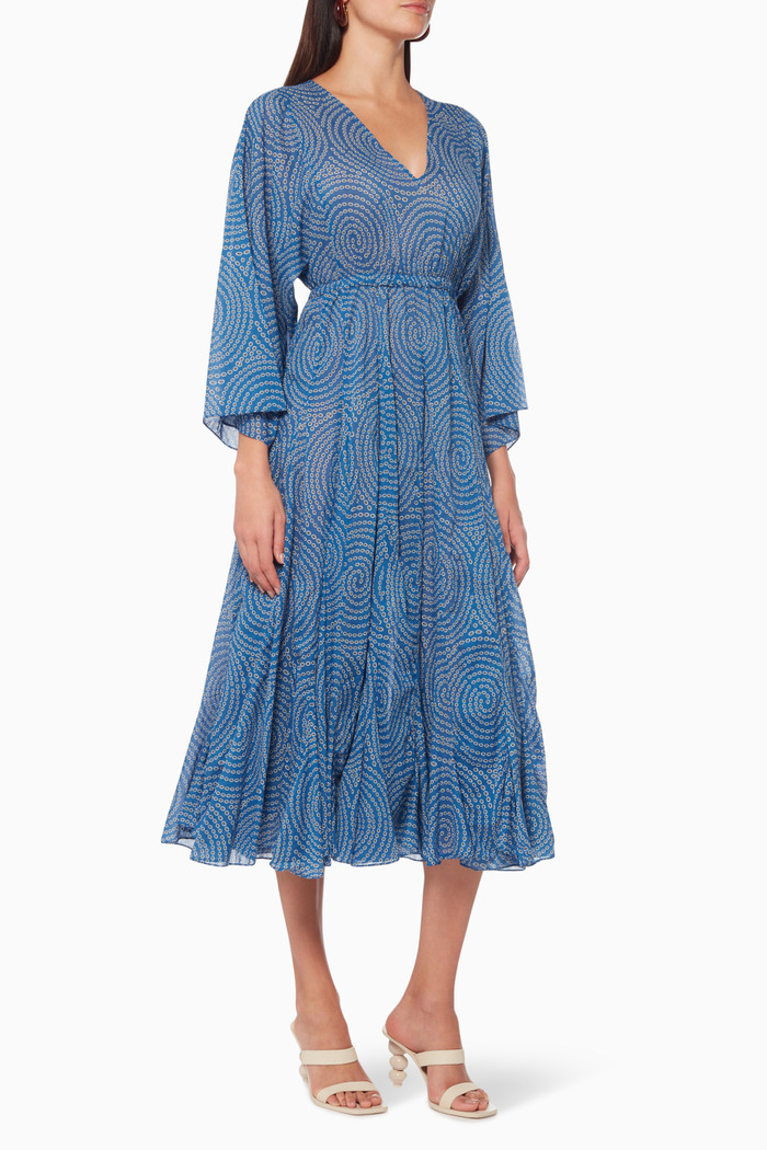 Emily Ruffled Cotton Maxi Dress