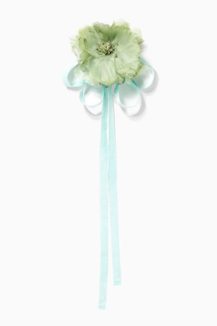 Zucca Silk Flower Brooch