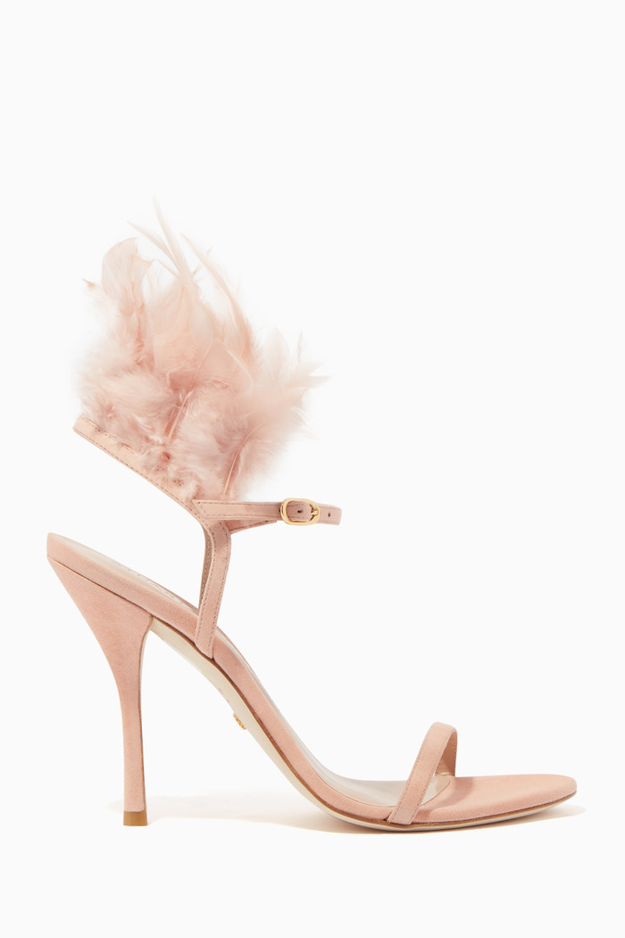 Ricki Suede Leather Feather Sandals