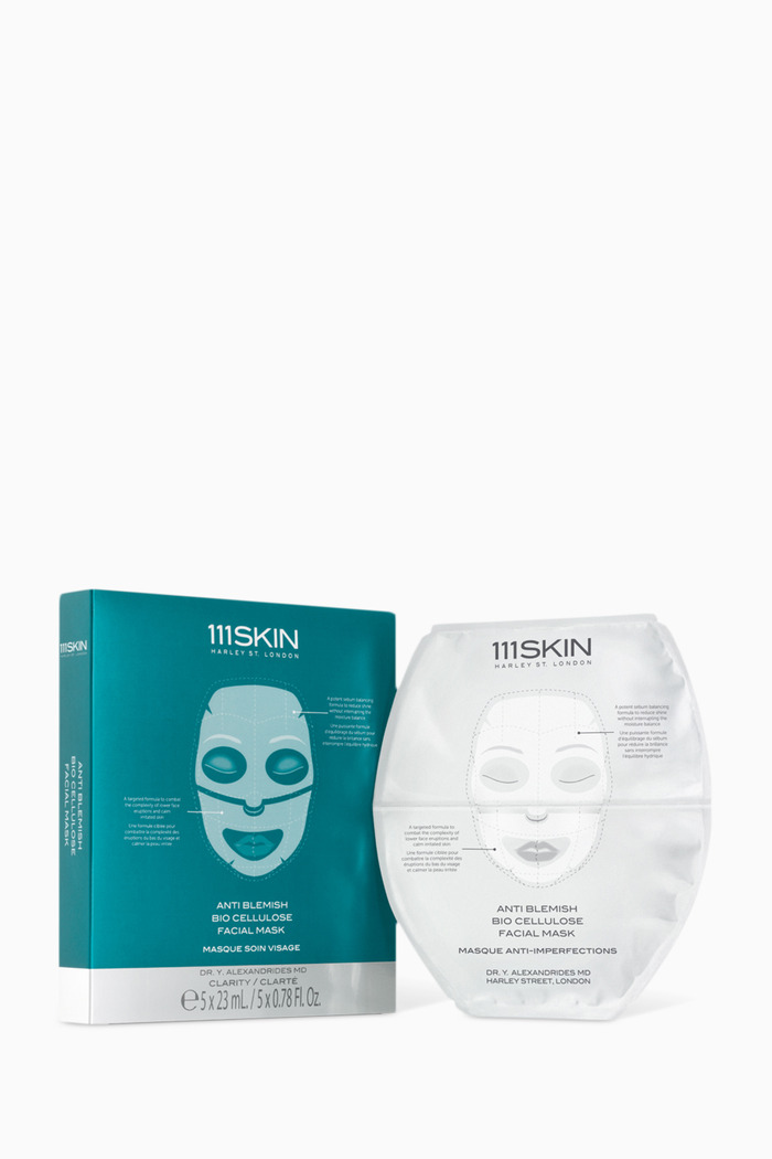 Anti Blemish Bio Cellulose Facial Mask, Pack of 5