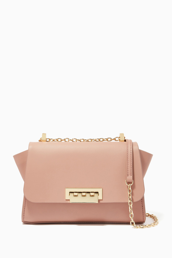 Eartha Chain Leather Shoulder Bag